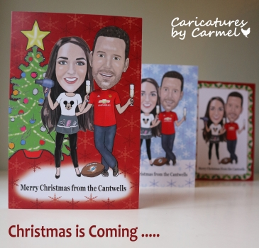 Caricature Christmas Card Promo