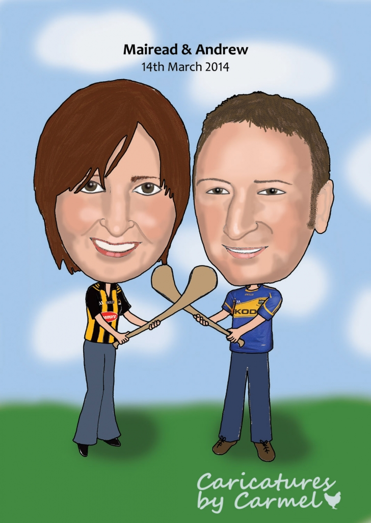 Andrew & Mairead Wedding Invitation Caricature