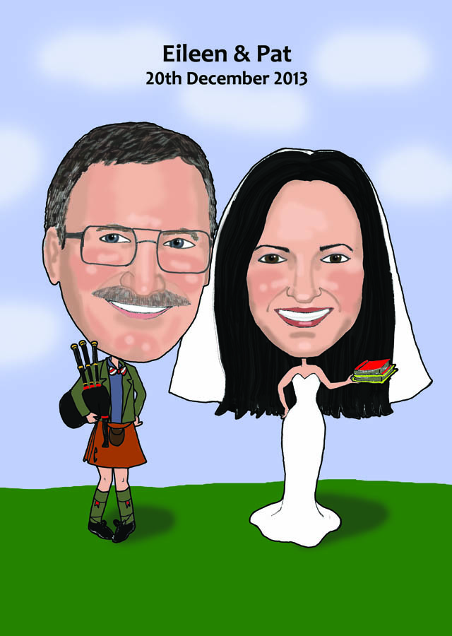 Wedding Caricature Guest Signing Board