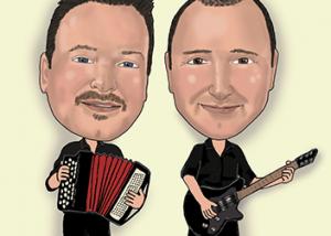 Bottle Brothers band logo caricature