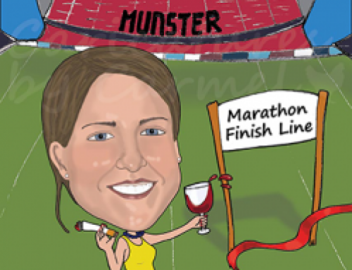 Hen party caricature for a Munster Rugby fan