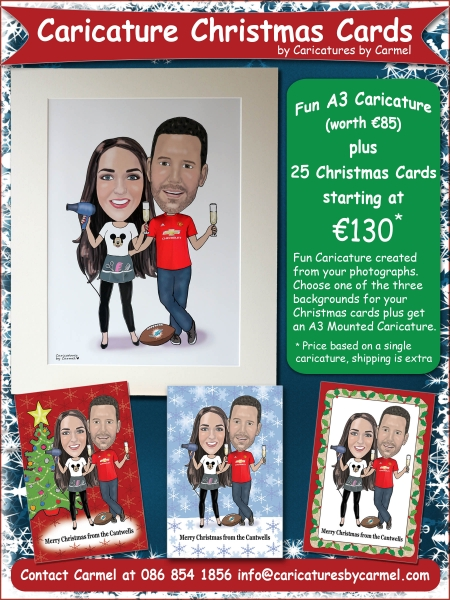 Caricature Christmas Card Promotion