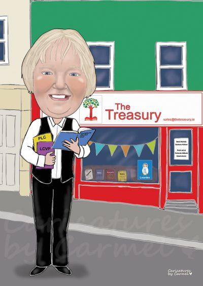 Caricature for a retiring teacher
