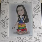 Signed guest signing board for a 21st party