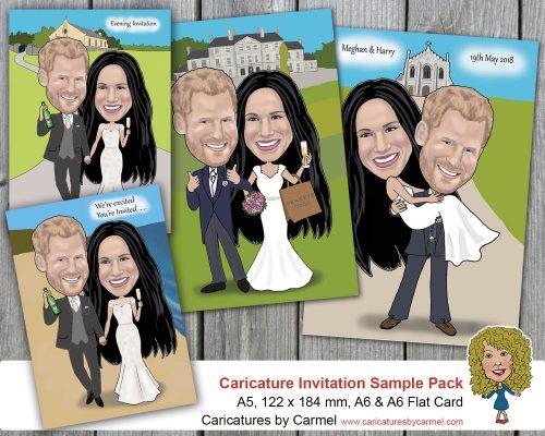 Caricature wedding invitations