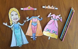 Idina Paper Doll dressed up